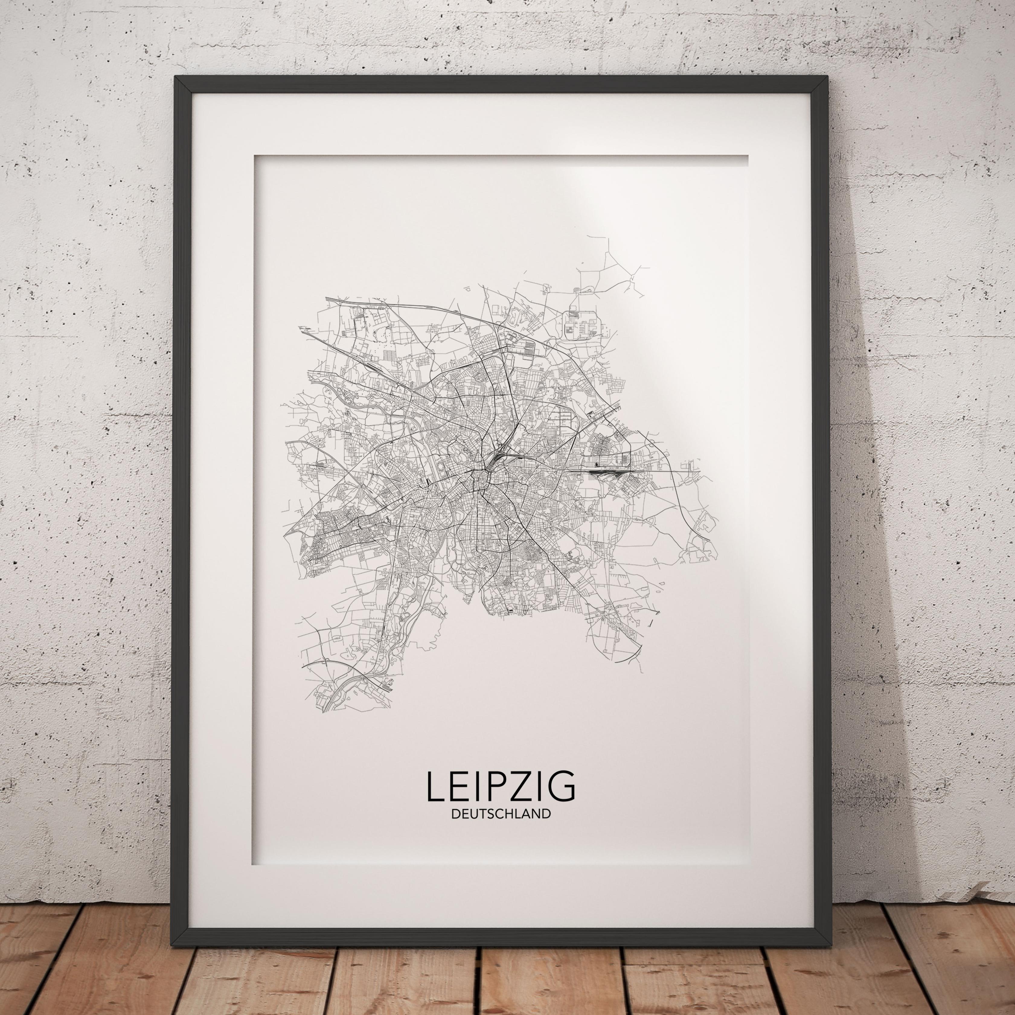 Posterlin Dein Poster Der Stadt Leipzig Bundesland Sachsen