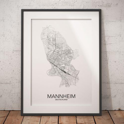 posterlin – Städteposter in schwarz-weiß der Stadt