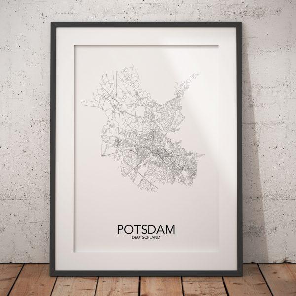 posterlin – Städteposter in schwarz-weiß der Stadt Potsdam