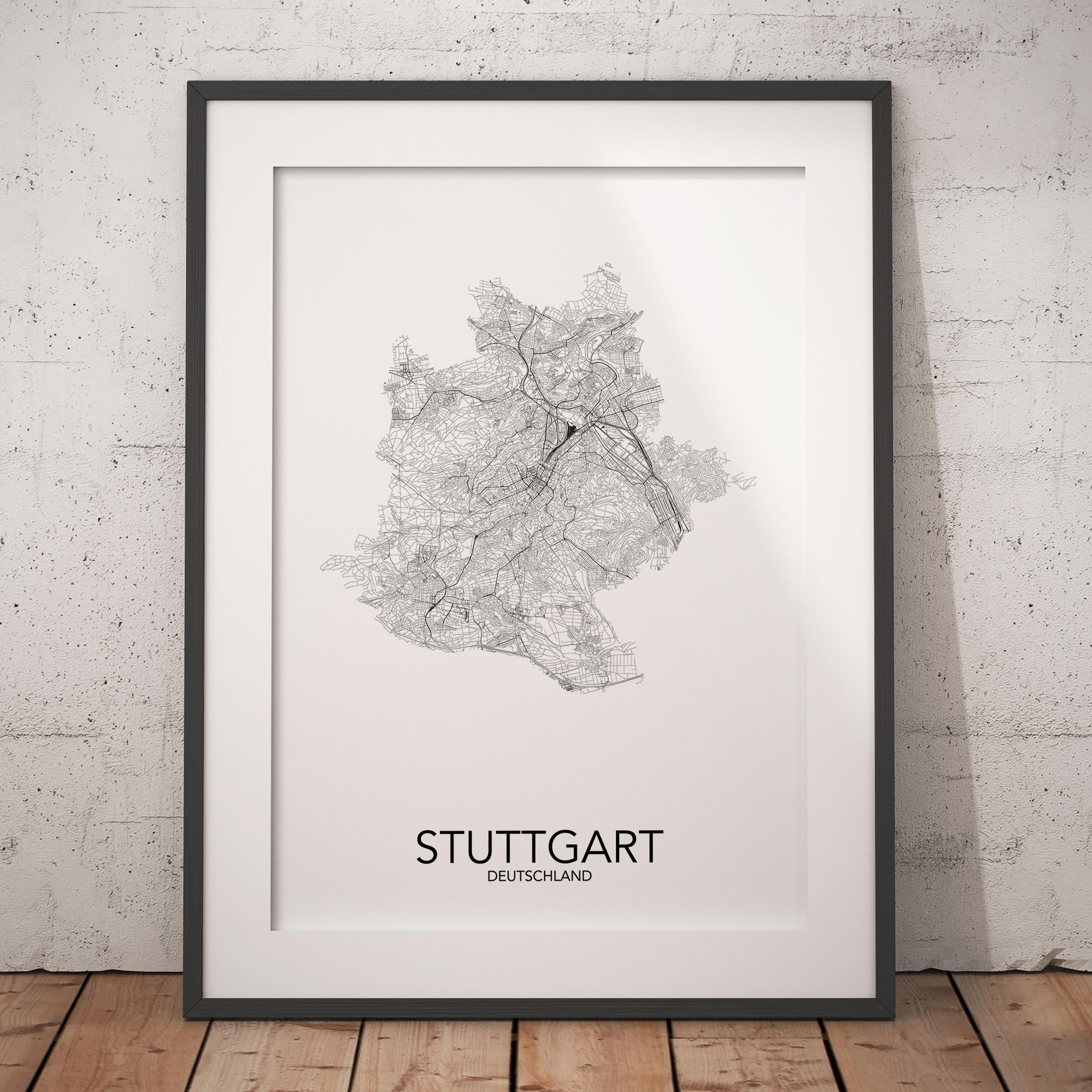 Posterlin Dein Poster Der Stadt Stuttgart Baden Wurttemberg