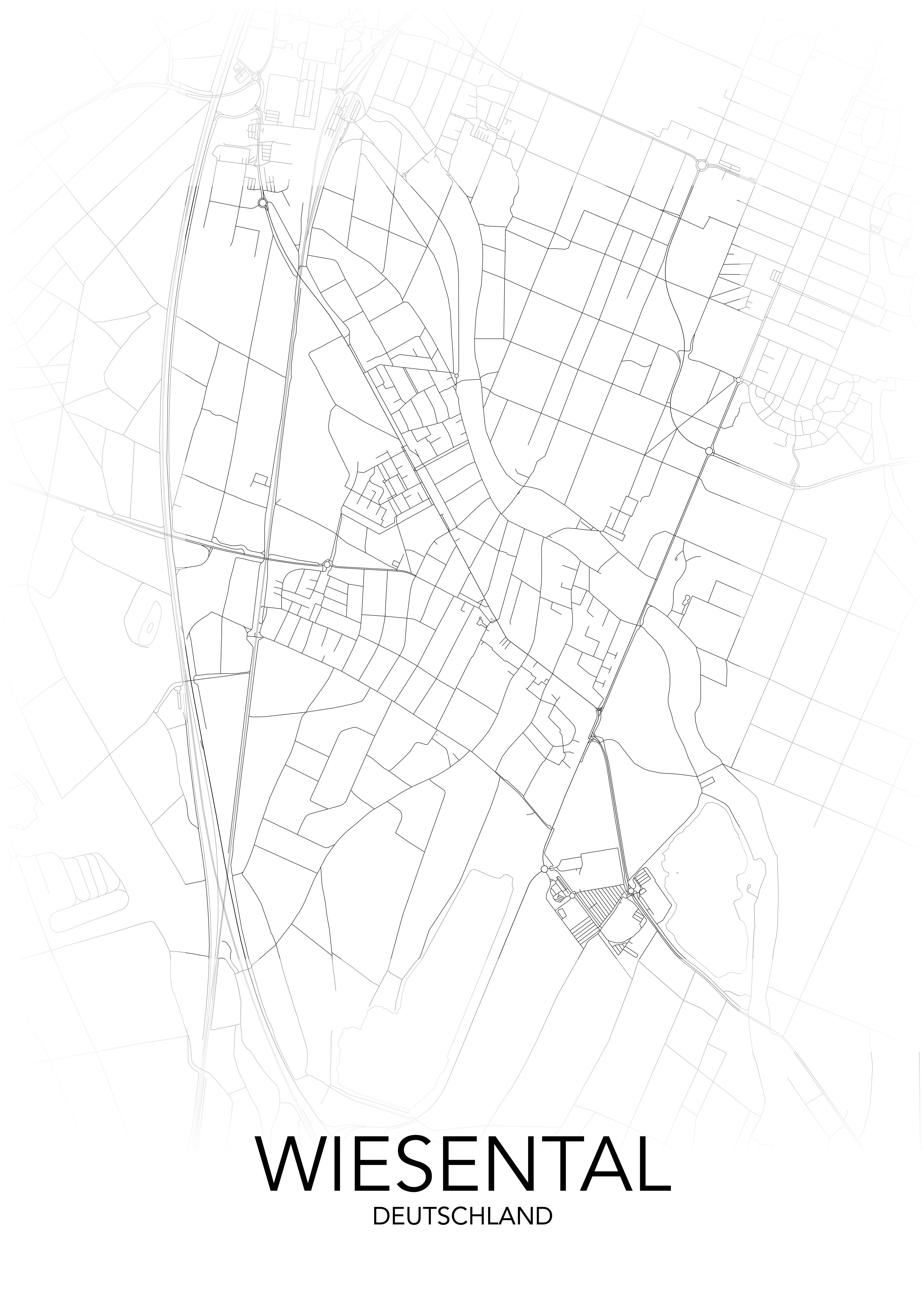 Wiesental Städte-Poster posterlin